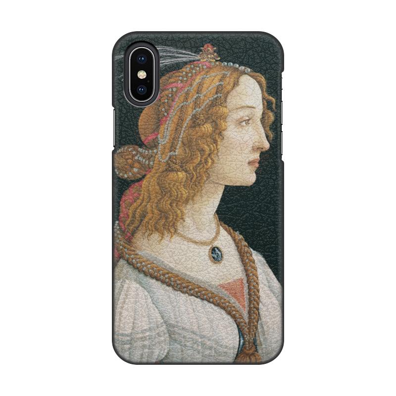 Фото - Printio Чехол для iPhone X/XS, объёмная печать Портрет молодой женщины (боттичелли) printio чехол для iphone x xs объёмная печать портрет молодой женщины боттичелли