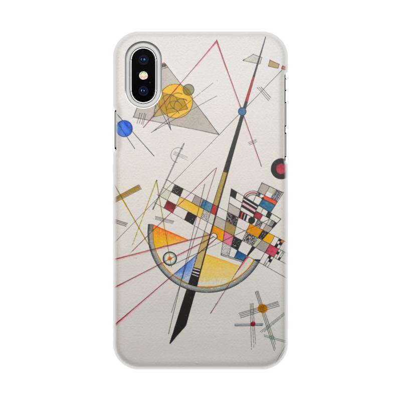 Printio Чехол для iPhone X/XS, объёмная печать Тонкое напряжение (василий кандинский) printio чехол для iphone 7 plus объёмная печать тонкое напряжение василий кандинский