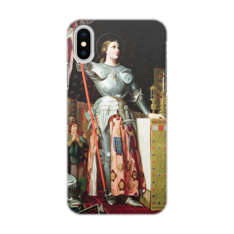 Фото - Printio Чехол для iPhone X/XS, объёмная печать Жанна д'арк на коронации карла vii (энгр) printio чехол для iphone 5 5s объёмная печать жанна д'арк на коронации карла vii энгр