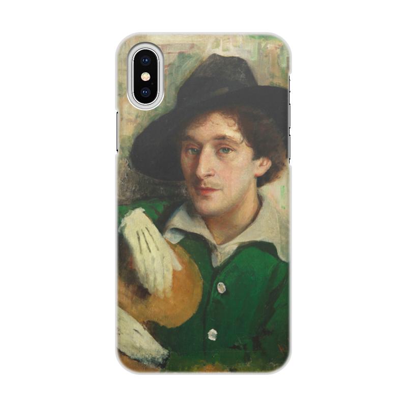 Фото - Printio Чехол для iPhone X/XS, объёмная печать Портрет марка шагала (юдель пэн) printio чехол для iphone x xs объёмная печать портрет молодой женщины боттичелли