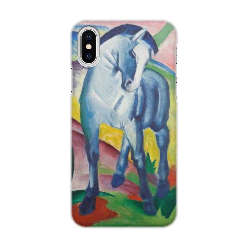 Printio Чехол для iPhone X/XS, объёмная печать Синий конь (франц марк)