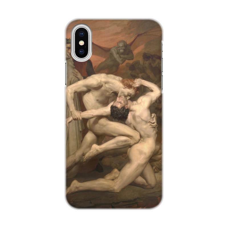 Printio Чехол для iPhone X/XS, объёмная печать Данте и вергилий в аду (вильям бугро)