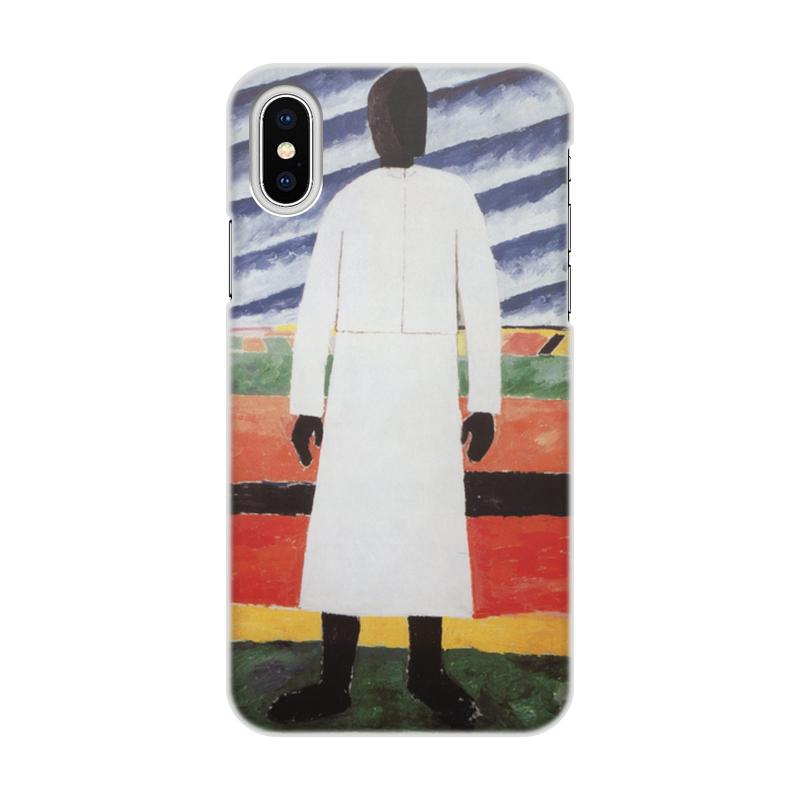 Printio Чехол для iPhone X/XS, объёмная печать Крестьянка (казимир малевич)