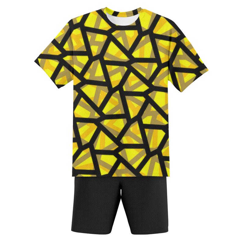 Printio Футбольная форма детская Empty yellow