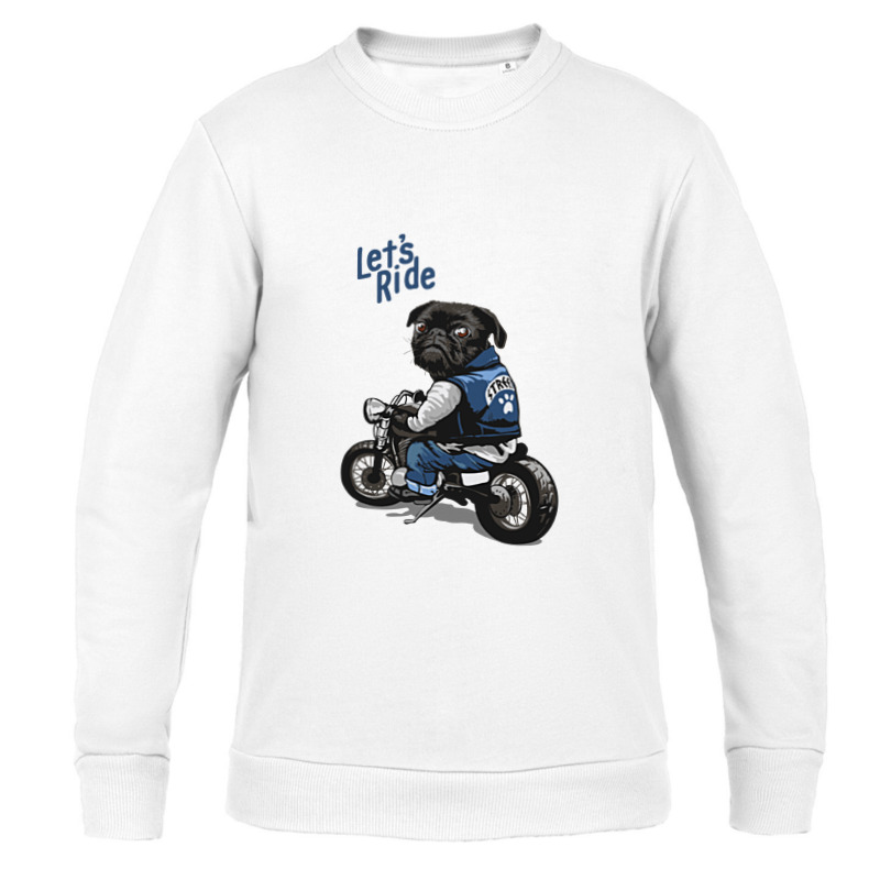 Printio Свитшот детский ✪lets ride pug✪