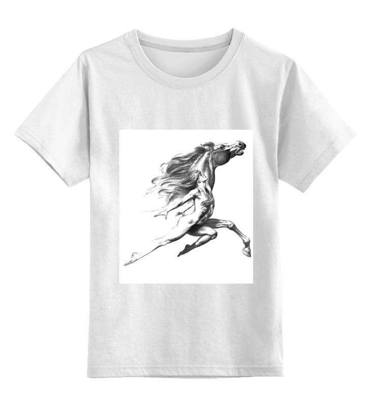 Printio Детская футболка классическая унисекс Девушка с конем.