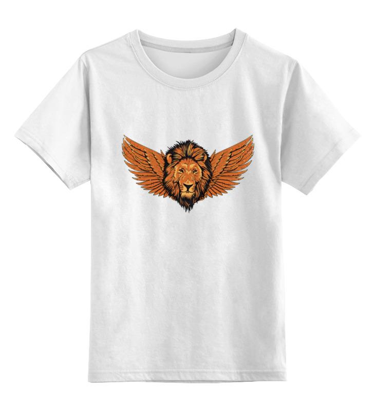 Printio Детская футболка классическая унисекс Крылатый лев