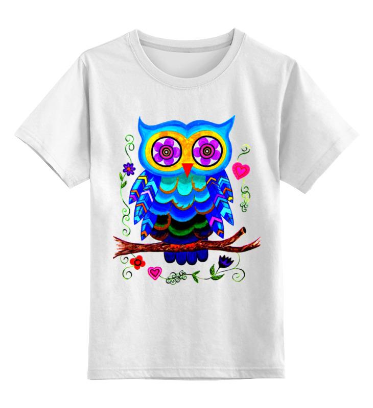 Printio Детская футболка классическая унисекс Очаровашка совенок.