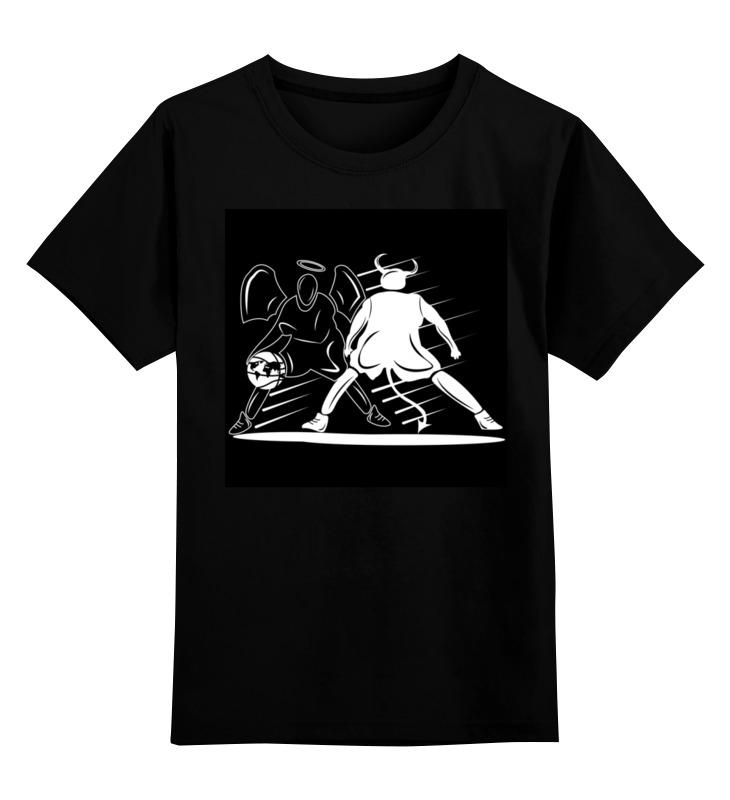 Printio Детская футболка классическая унисекс Демон и ангел играют в баскетбол