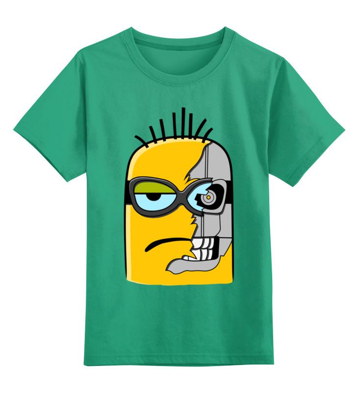Printio Детская футболка классическая унисекс Миньон-киборг