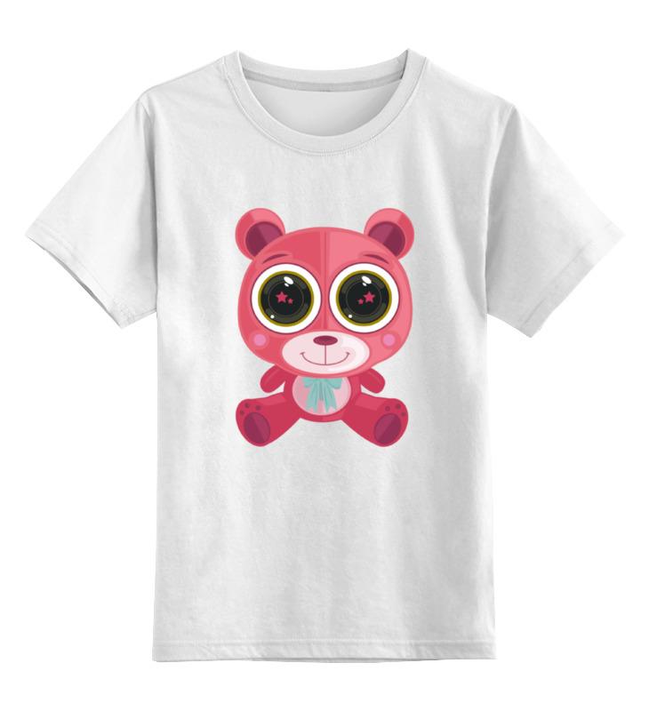 Printio Детская футболка классическая унисекс Розовый мишка (bear) printio футболка классическая crew five cali bear