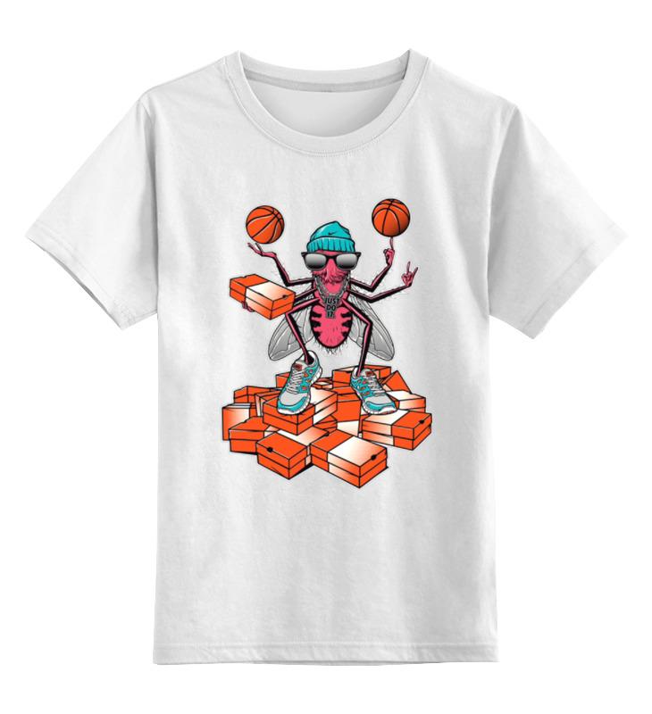Printio Детская футболка классическая унисекс Муха в кроссовках