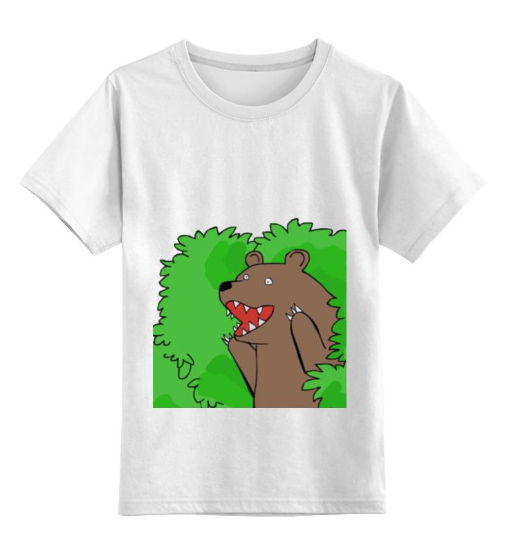 Printio Детская футболка классическая унисекс Медведь из кустов
