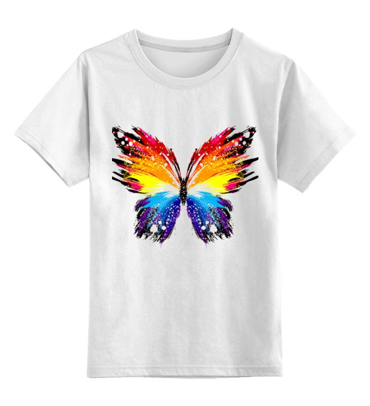 Printio Детская футболка классическая унисекс бабочка, радуга