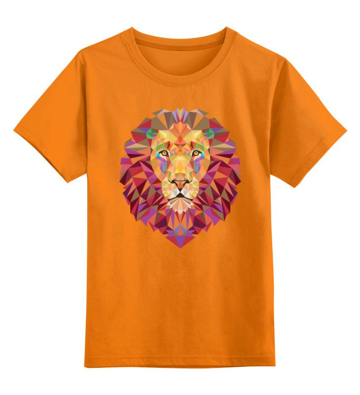 Фото - Printio Детская футболка классическая унисекс Полигональный лев printio детская футболка классическая унисекс полигональный кабан