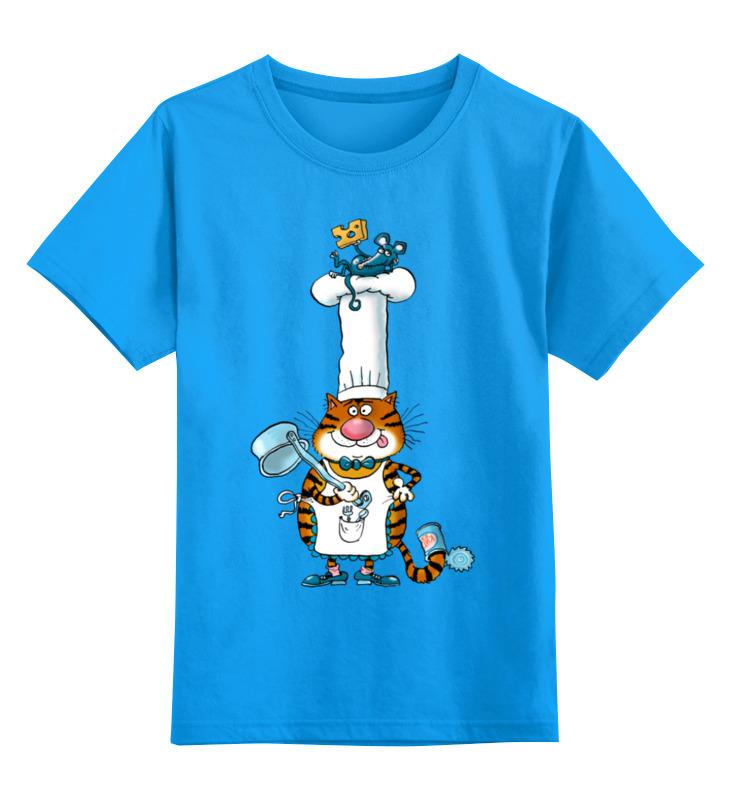 Printio Детская футболка классическая унисекс Повар кот