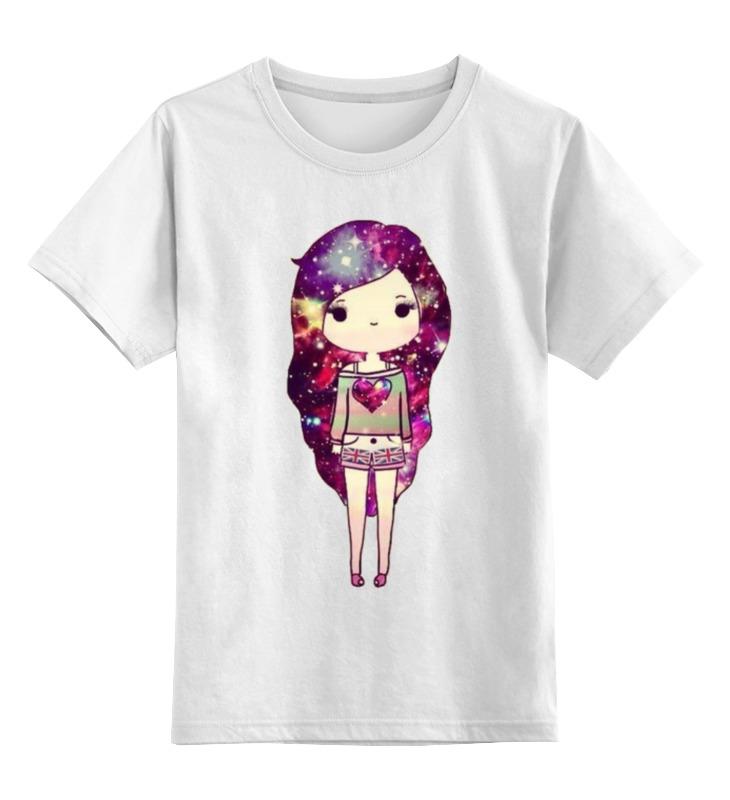 Printio Детская футболка классическая унисекс Девушка космос printio детская футболка классическая унисекс йога девушка