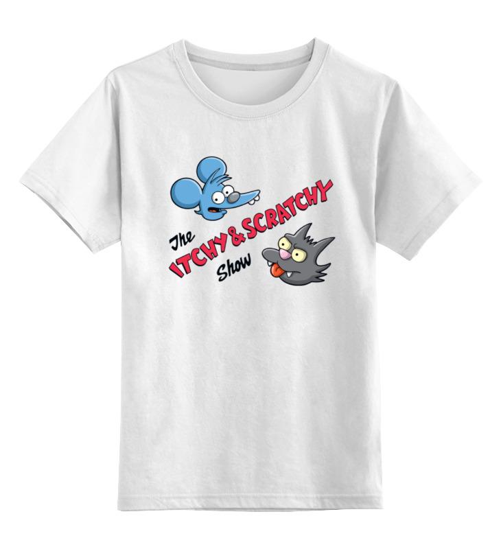 Printio Детская футболка классическая унисекс Щекотка и царапка (симпсоны)