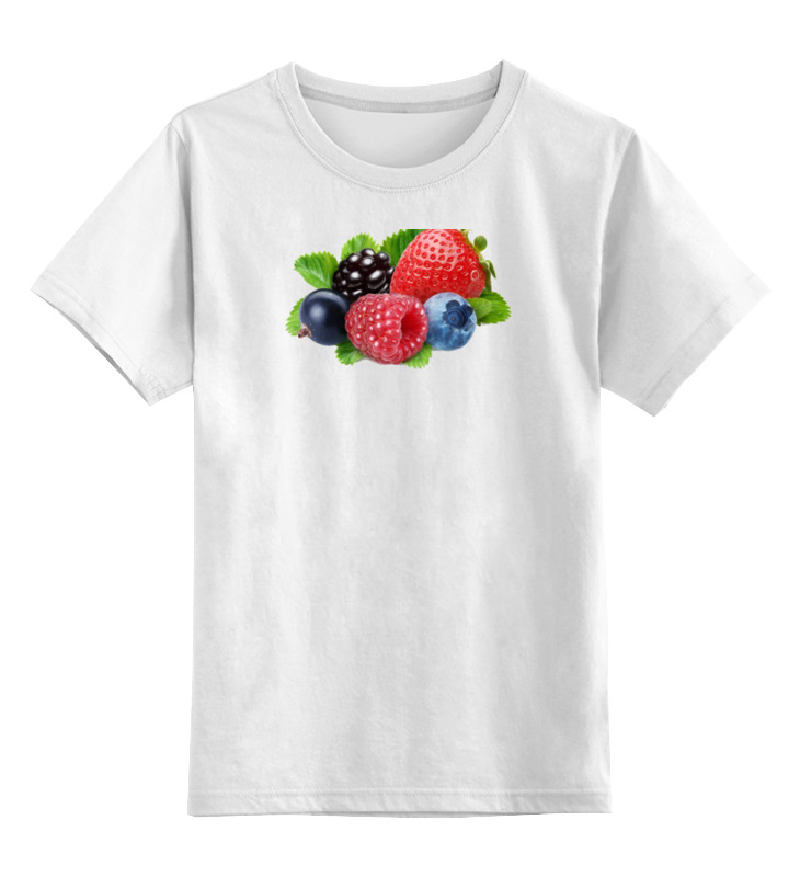 Printio Детская футболка классическая унисекс Berries бомбер printio berries fruits