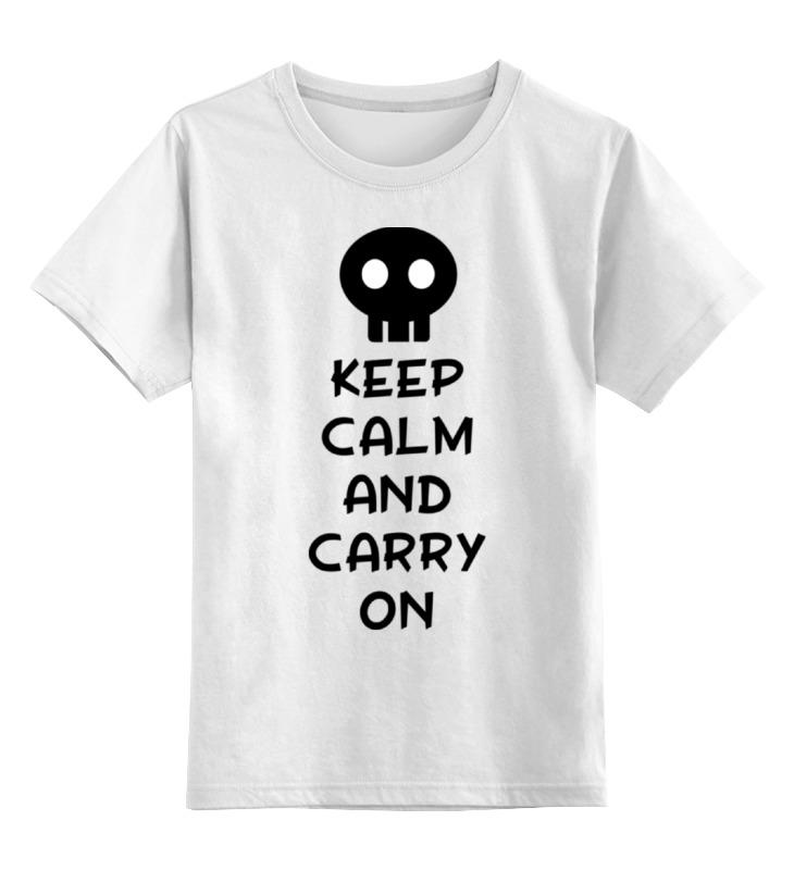 Printio Детская футболка классическая унисекс Keep calm and carry on недорого