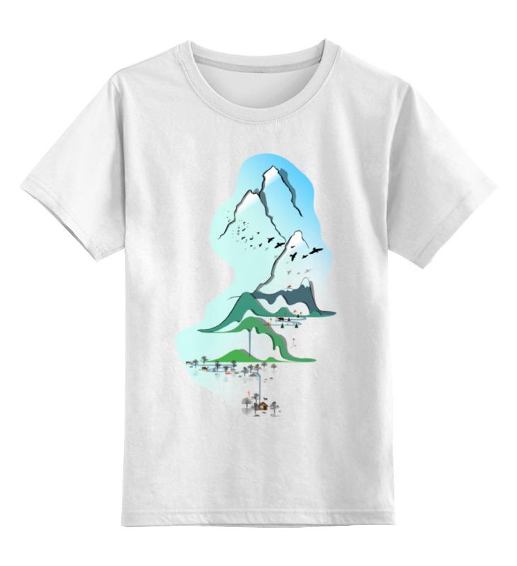 Printio Детская футболка классическая унисекс Горы в стиле минимализма printio футболка wearcraft premium горы в стиле минимализма
