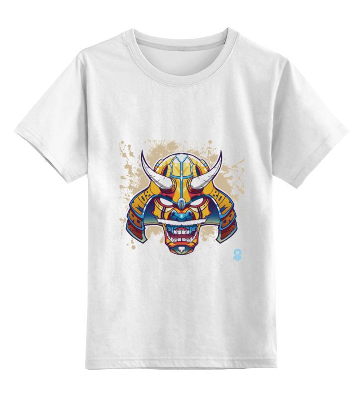 printio маска самурая Printio Детская футболка классическая унисекс Маска самурая