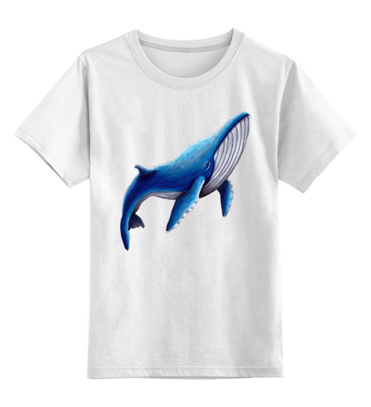 Printio Детская футболка классическая унисекс Синий кит