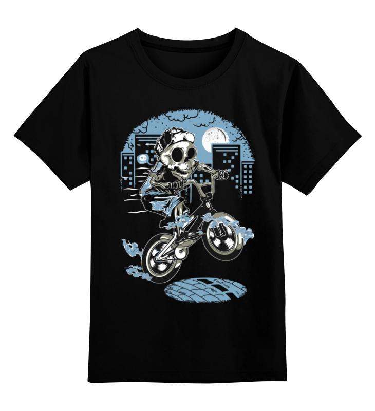 Printio Детская футболка классическая унисекс Скелет на мотоцикле
