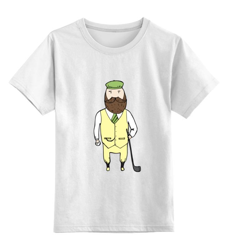 детская футболка классическая унисекс printio джентльмен боец Printio Детская футболка классическая унисекс Джентльмен с клюшкой для гольфа