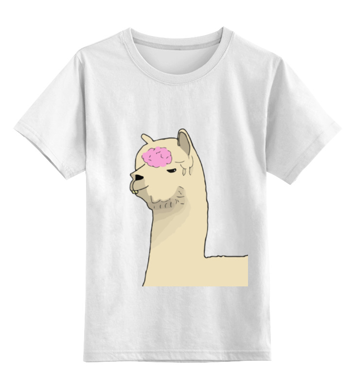 Printio Детская футболка классическая унисекс Альпака фред printio футболка классическая альпака фред