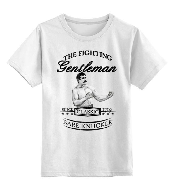 детская футболка классическая унисекс printio джентльмен боец Printio Детская футболка классическая унисекс Джентльмен боец
