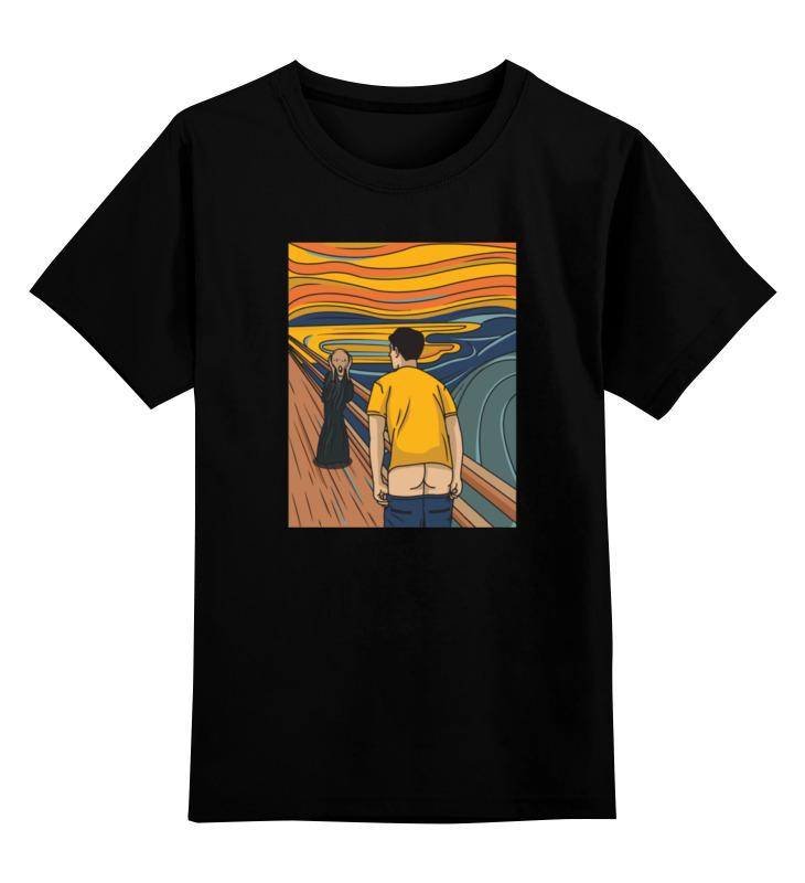 printio детская футболка классическая унисекс крик кальмара Printio Детская футболка классическая унисекс Мунк крик пародия
