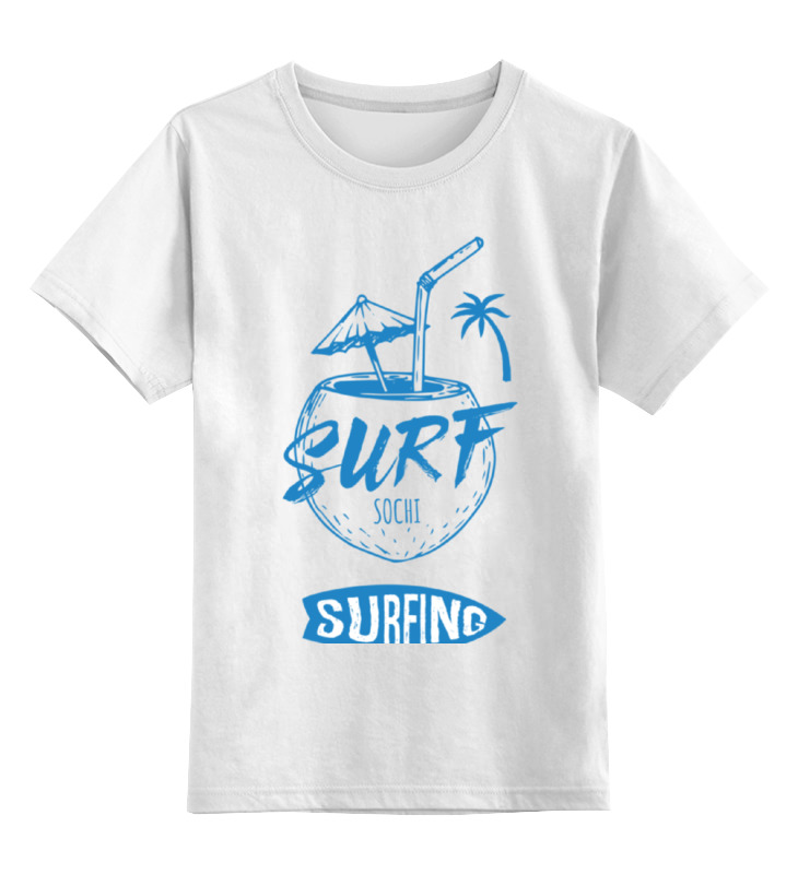 Printio Детская футболка классическая унисекс Сочи серфинг
