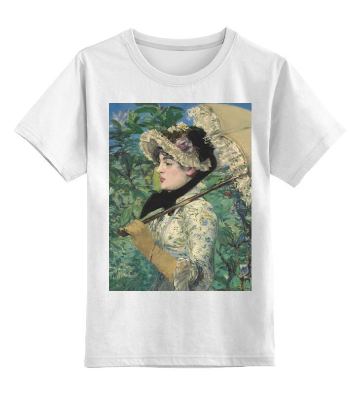 Printio Детская футболка классическая унисекс Жанна (весна) (картина эдуарда мане)