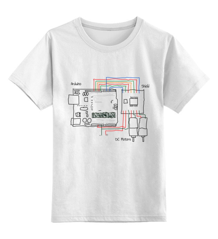 Printio Детская футболка классическая унисекс Подключение моторов к ардуино