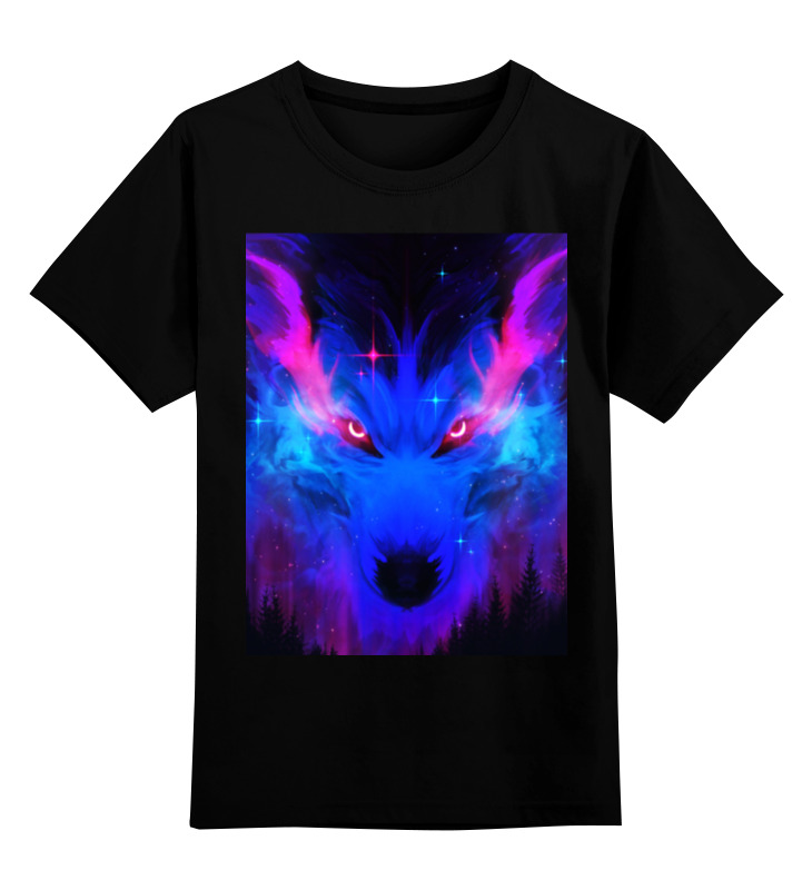 Printio Детская футболка классическая унисекс неоновый волк