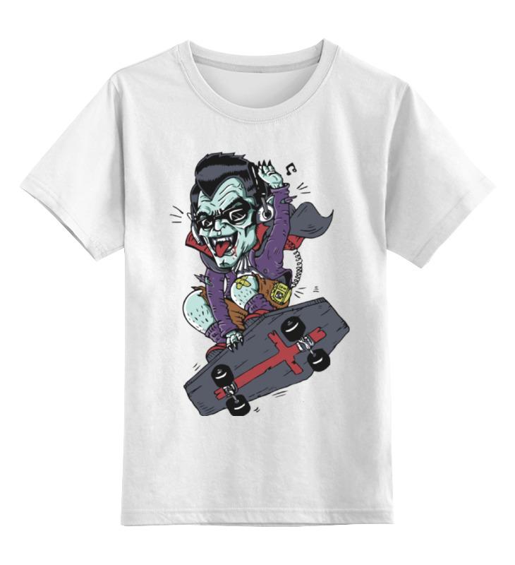 Printio Детская футболка классическая унисекс Дракула на скейте