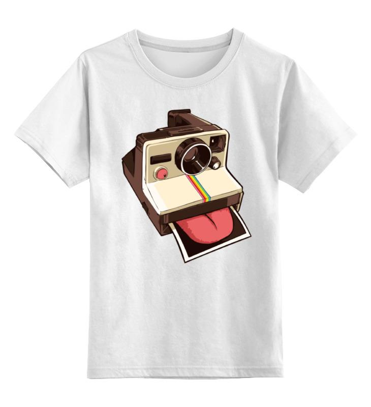 Printio Детская футболка классическая унисекс Полароид с языком