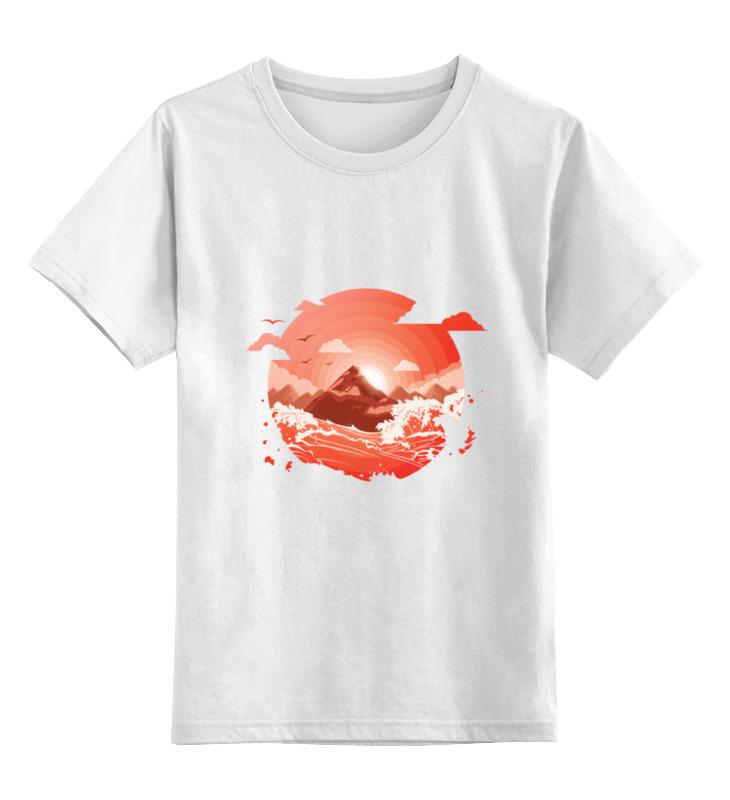 Printio Детская футболка классическая унисекс Красный рассвет над горами