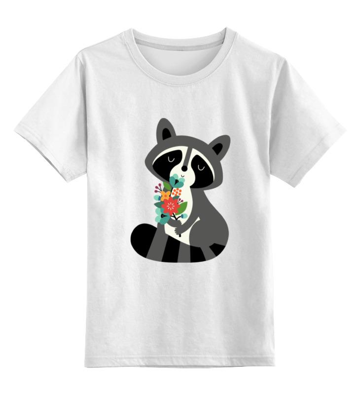 Printio Детская футболка классическая унисекс Милый енот