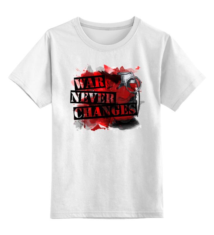 Printio Детская футболка классическая унисекс Война никогда не меняется