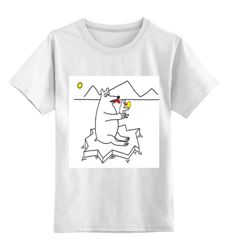 Printio Детская футболка классическая унисекс Медведь-лизун
