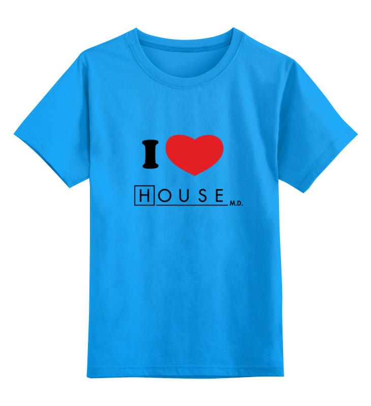 Фото - Printio Детская футболка классическая унисекс I love house printio футболка классическая witch house