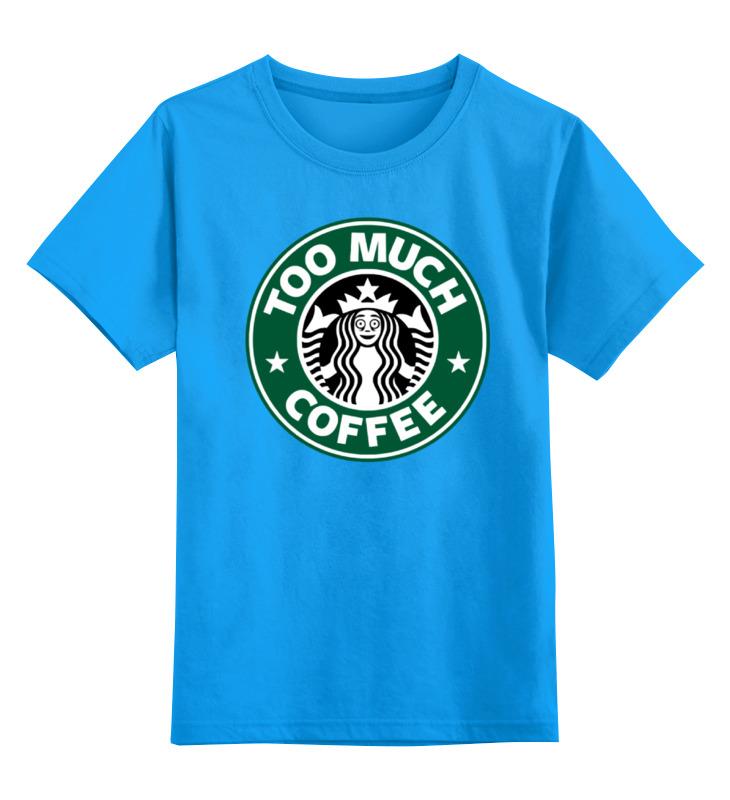 детская футболка классическая унисекс printio banana coffee minion Printio Детская футболка классическая унисекс Too much coffee