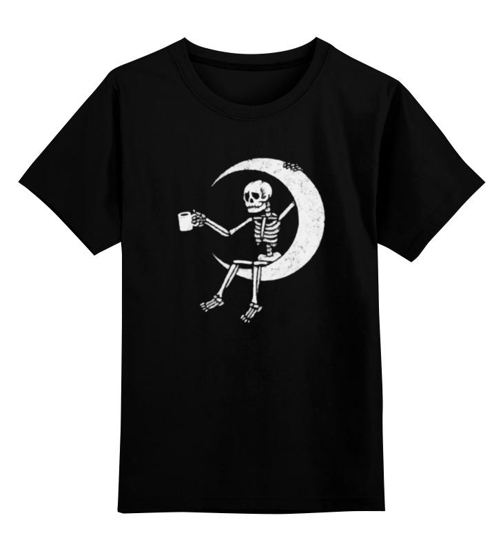 Фото - Printio Детская футболка классическая унисекс Скелет на луне printio детская футболка классическая унисекс скелет и жуткий кот