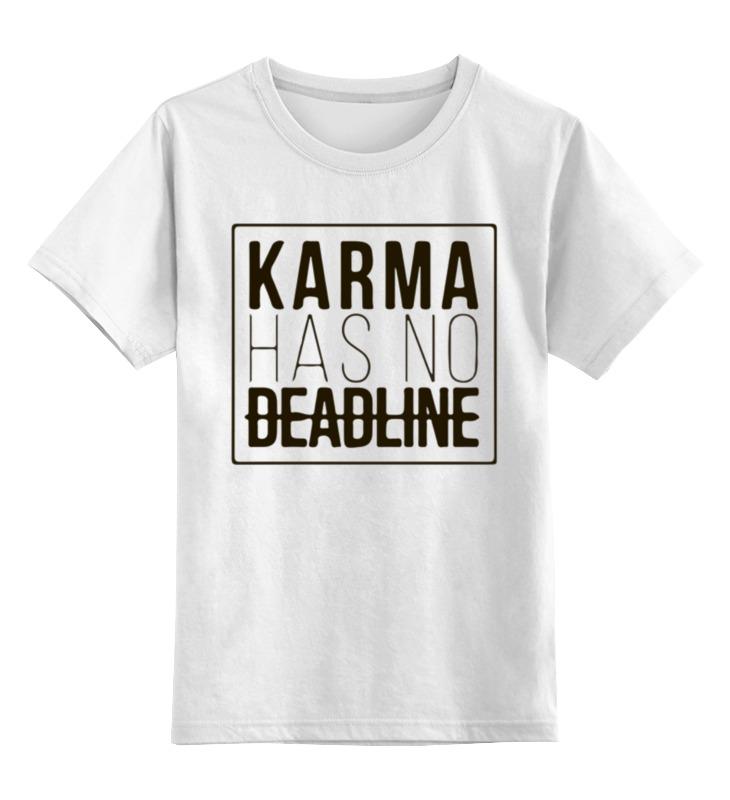 Printio Детская футболка классическая унисекс Карма не имеет срока