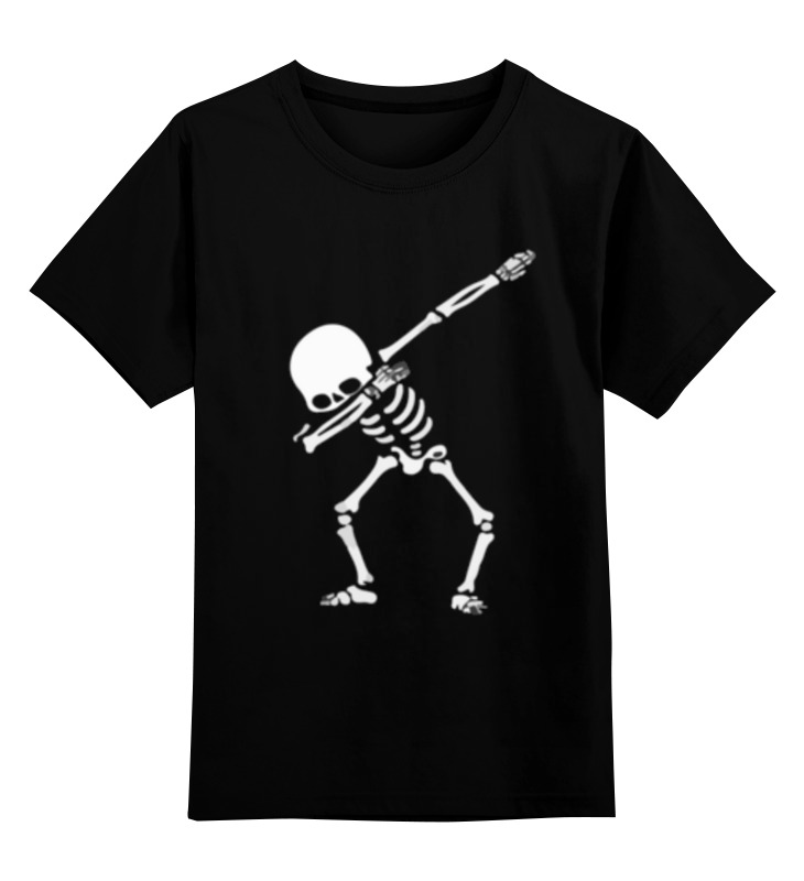 Фото - Printio Детская футболка классическая унисекс Скелет танцует дэб printio детская футболка классическая унисекс скелет и жуткий кот