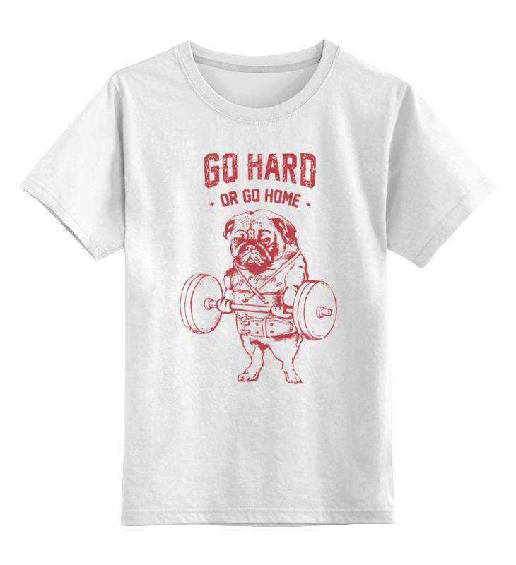 Printio Детская футболка классическая унисекс Мопс штангист