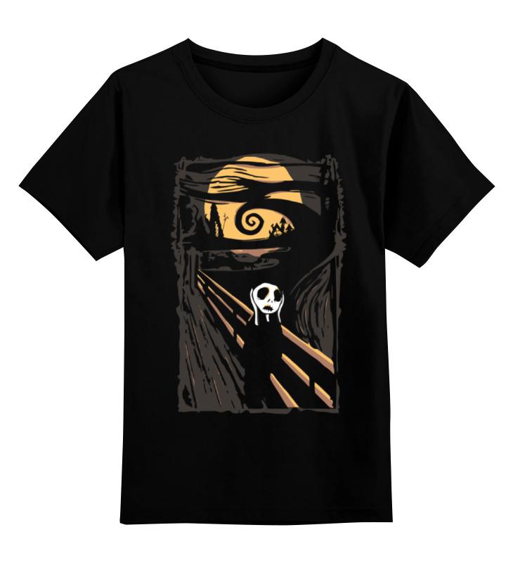printio детская футболка классическая унисекс крик кальмара Printio Детская футболка классическая унисекс Крик (кошмар перед рождеством)