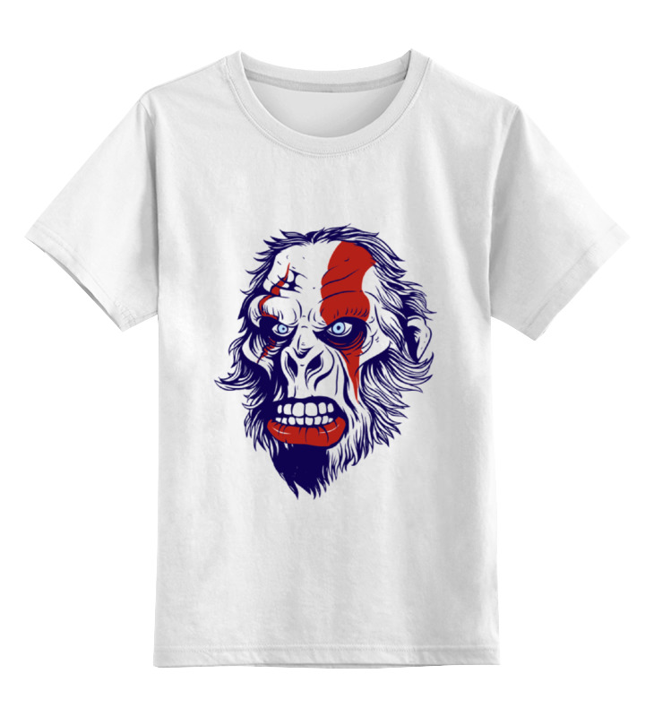 Printio Детская футболка классическая унисекс Gorilla kratos printio футболка классическая gorilla kratos
